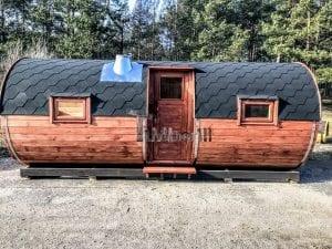 Outdoor Barrel Round Sauna 1 2