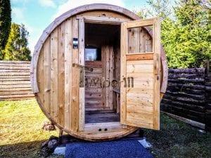 Outdoor Barrel Round Sauna 1 3