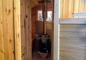 Outdoor Barrel Round Sauna 1 7