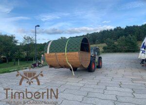 Outdoor Barrel Round Sauna 1 8