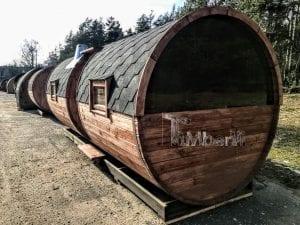 Outdoor Barrel Round Sauna 10 1