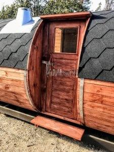 Outdoor Barrel Round Sauna 12 1