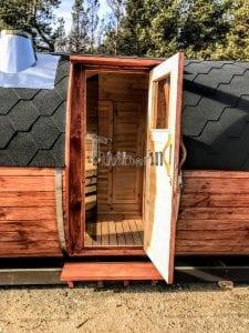 Outdoor Barrel Round Sauna 13 1