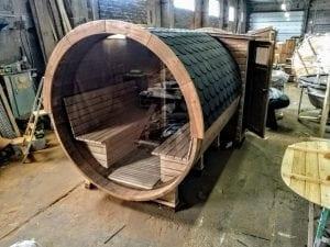 Outdoor Barrel Round Sauna 15
