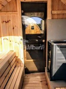 Outdoor Barrel Round Sauna 17 1