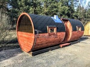 Outdoor Barrel Round Sauna 2 2