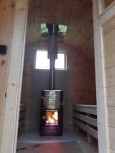Outdoor Barrel Round Sauna 2
