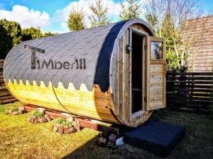 Outdoor Barrel Round Sauna 2 3