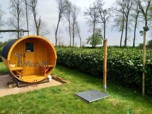 Outdoor Barrel Round Sauna 2 4