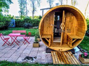 Outdoor Barrel Round Sauna 2 5