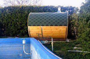 Outdoor Barrel Round Sauna 2 6