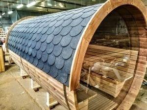 Outdoor Barrel Round Sauna 21