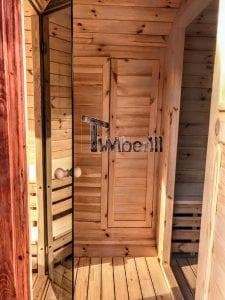 Outdoor Barrel Round Sauna 23 1