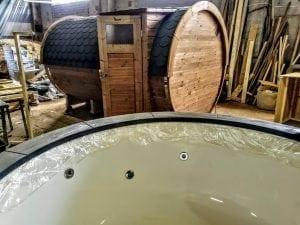 Outdoor Barrel Round Sauna 23