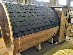 Outdoor Barrel Round Sauna 3 1