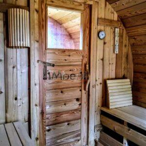 Outdoor Barrel Round Sauna 3 3