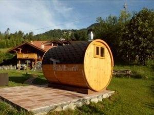 Outdoor Barrel Round Sauna 3