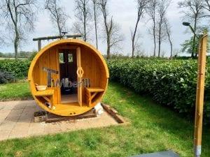 Outdoor Barrel Round Sauna 3 4