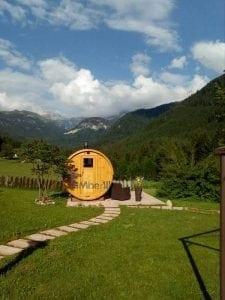 Outdoor Barrel Round Sauna 4