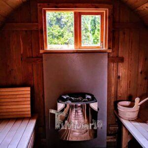 Outdoor Barrel Round Sauna 4 3
