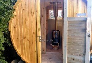 Outdoor Barrel Round Sauna 4 4