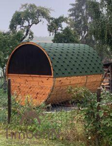 Outdoor Barrel Round Sauna 4 5