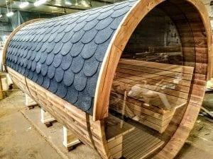 Outdoor Barrel Round Sauna 5 1