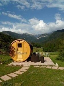 Outdoor Barrel Round Sauna 5