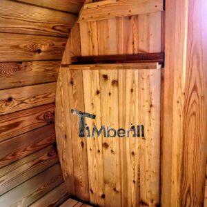 Outdoor Barrel Round Sauna 5 3