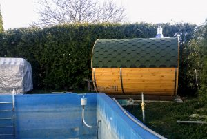 Outdoor Barrel Round Sauna 5 4