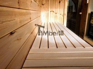 Outdoor Barrel Round Sauna 6 2