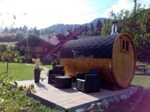 Outdoor Barrel Round Sauna 6
