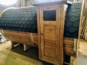 Outdoor Barrel Round Sauna 7