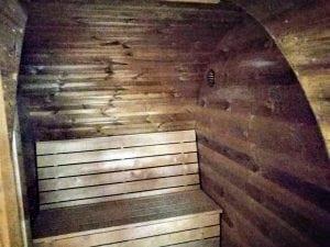 Outdoor Barrel Round Sauna 9
