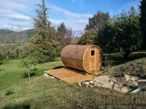 Outdoor barrel sauna 1 2
