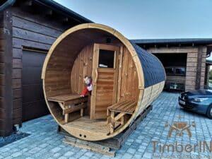 Outdoor barrel sauna 2 1