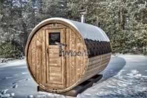 Outdoor barrel sauna 5