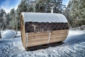 Outdoor barrel sauna 7