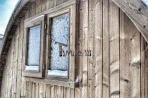 Outdoor barrel sauna 8