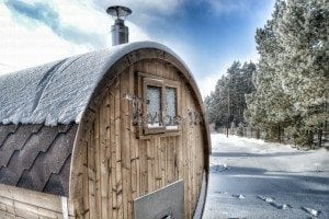 Outdoor barrel sauna 9