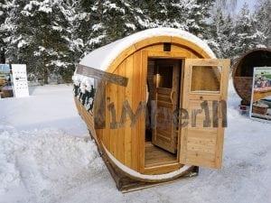 Outdoor garden sauna with full panoramic glass 1