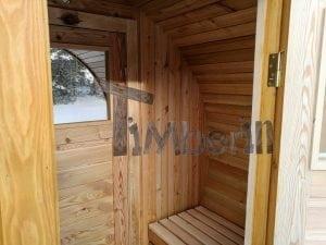 Outdoor garden sauna with full panoramic glass 10