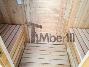 Outdoor garden sauna with full panoramic glass 11