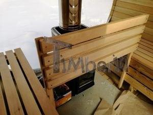 Outdoor garden sauna with full panoramic glass 22