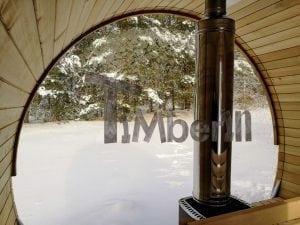Outdoor garden sauna with full panoramic glass 23