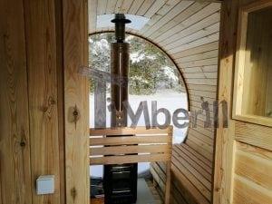 Outdoor garden sauna with full panoramic glass 24