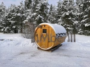 Outdoor garden sauna with full panoramic glass 6