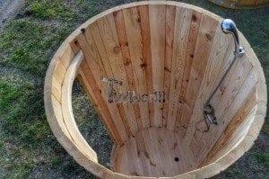 Outdoor wooden shower 10