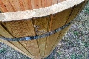 Outdoor wooden shower 11