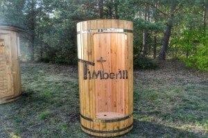 Outdoor wooden shower 13